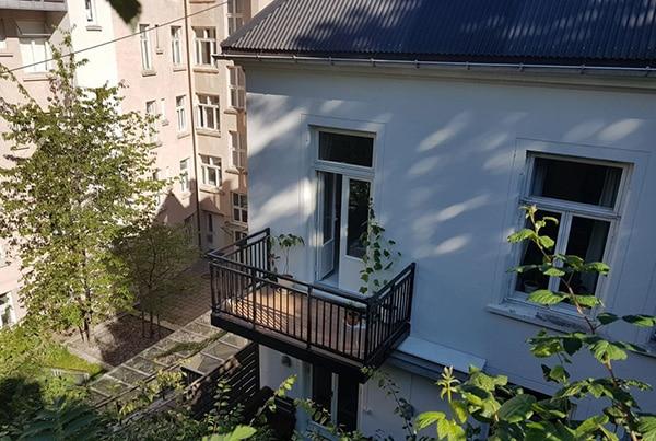 Montering av ny balkong, Oslo